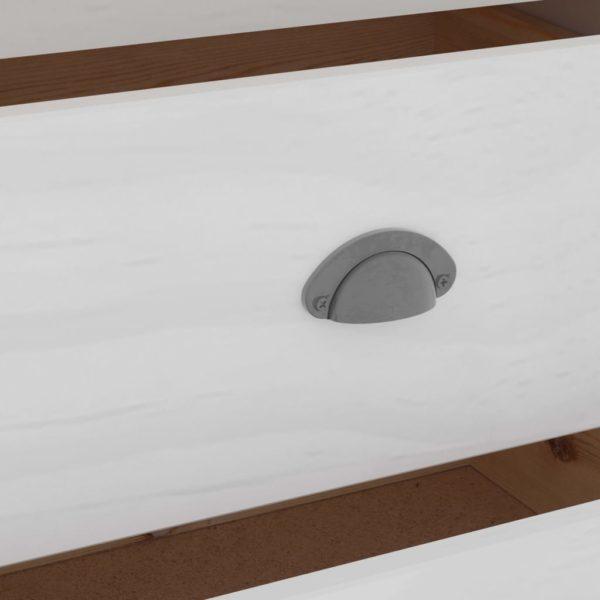 Sideboard Hill Range Weiß 125x40x80 cm Massivholz Kiefer
