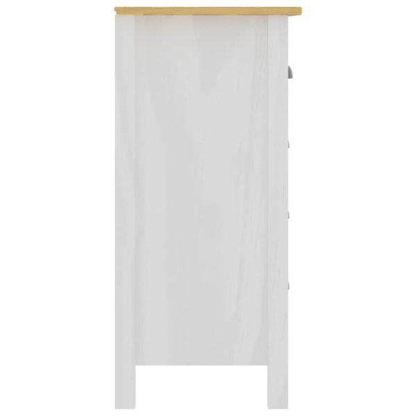 Sideboard Hill Range Weiß 130x37x80 cm Massivholz Kiefer