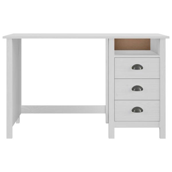 Schreibtisch mit 3 Schubladen 120×50×74 cm Massivholz Kiefer