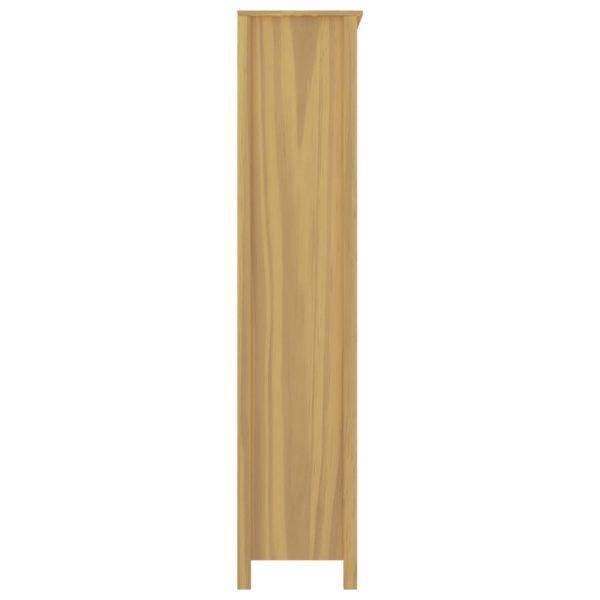 Highboard Hill Range Honigbraun 85x37x170,5cm Kiefer-Massivholz