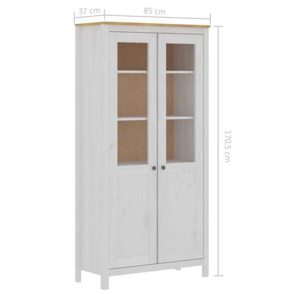 Highboard Hill Range Weiß 85x37x170,5 cm Kiefer-Massivholz