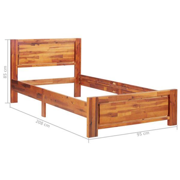 Bettgestell Akazie Massivholz 90 × 200 cm