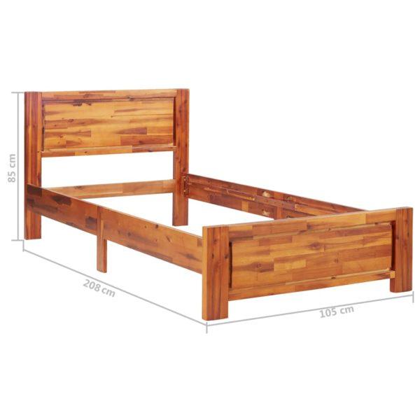 Bettgestell Akazie Massivholz 100 × 200 cm