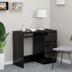 Schreibtisch Hochglanz-Schwarz 90 x 45 x 76 cm Spanplatte