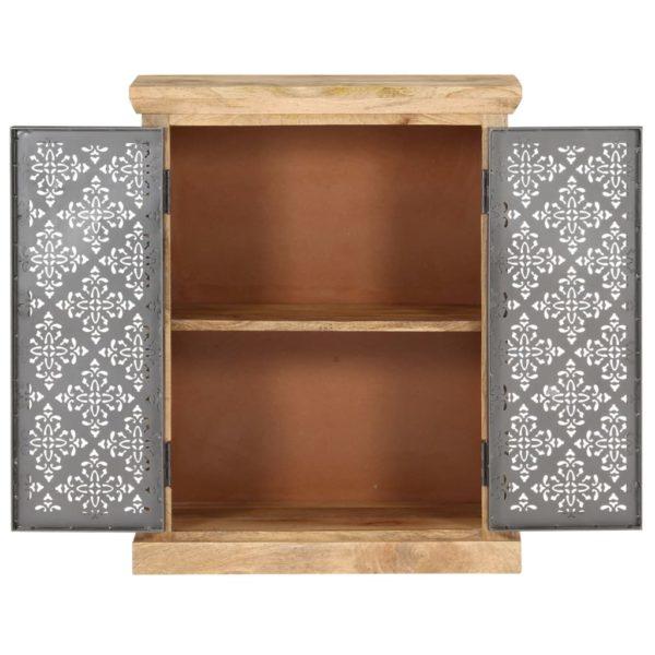 Sideboard mit Stahltüren 60x35x75 cm Mango Massivholz