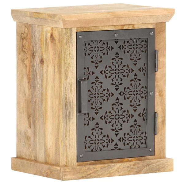 Nachttisch mit Tür 40x30x50 cm Mango Massivholz