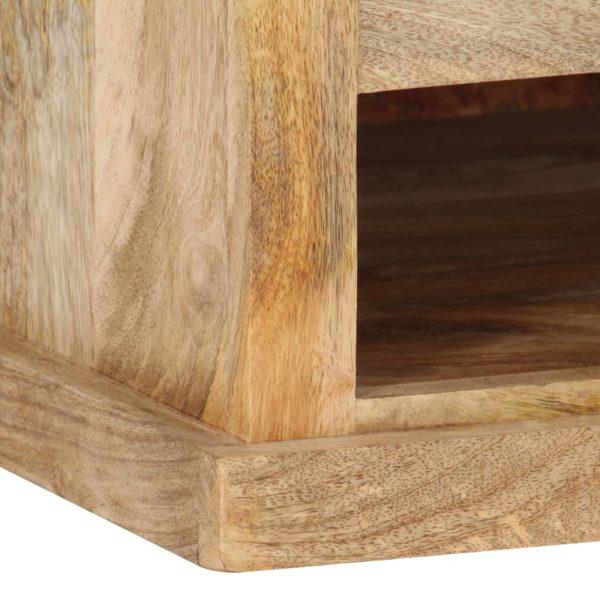 Couchtisch mit Tür 90x50x35 cm Mango Massivholz