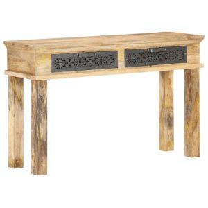 Konsolentisch mit Schubladen 120x35x75 cm Mango Massivholz
