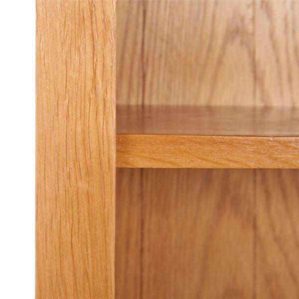 Bücherregal 6 Fächer 90×22,5×200 cm Massivholz Eiche