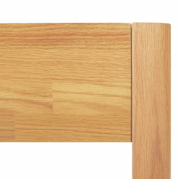 Bettgestell Massivholz Eiche 100 × 200 cm
