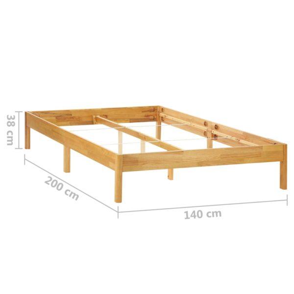 Bettgestell Massivholz Eiche 140 x 200 cm