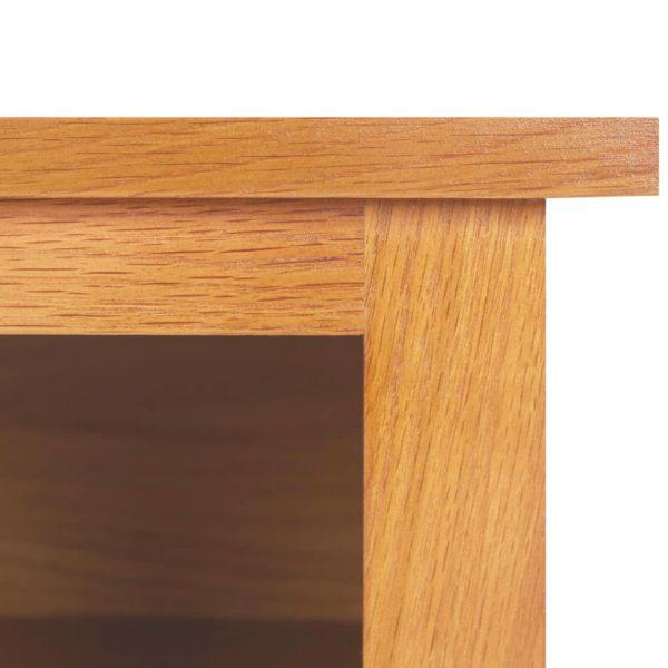 Schuhregal 90×37×45 cm Eiche Massivholz und MDF