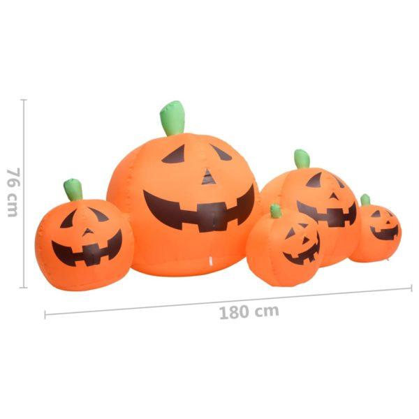 Halloween-Kürbisfamilie Aufblasbar LED 1,8 m
