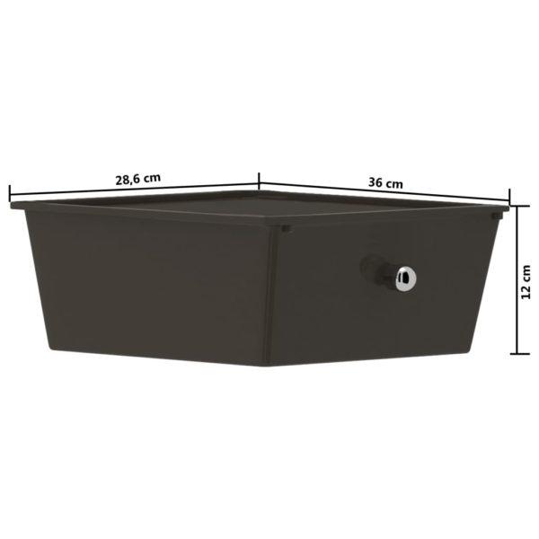 Schubladenwagen mit 4 Schubladen Schwarz Kunststoff