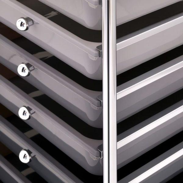 Schubladenwagen mit 10 Schubladen Ombre Kunststoff