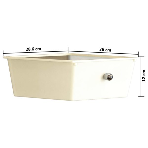 XXL Schubladenwagen mit 15 Schubladen Weiß Kunststoff