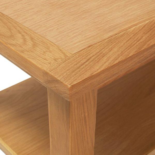 Couchtisch 110 x 55 x 40 cm Eiche Massivholz