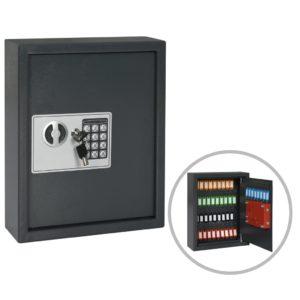 Schlüsseltresor Dunkelgrau 30x10x36,5 cm