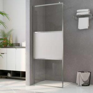 Begehbare Duschwand mit Halbmattiertem ESG-Glas 115x195cm