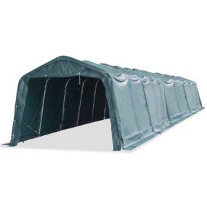 Weidezelt PVC 550 g/m² 3,3×16 m Dunkelgrün