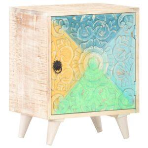Nachttisch Geschnitzt 40x30x50 cm Akazie Massivholz