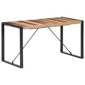 Esstisch 140x70x75 cm Massivholz mit Palisander-Finish