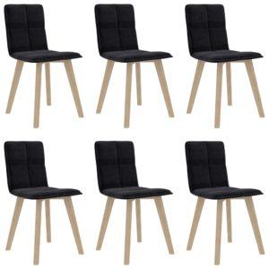 Esszimmerstühle 6 Stk. Schwarz