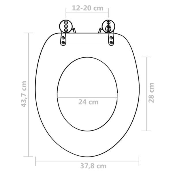 Toilettensitze mit Deckel 2 Stk. MDF Strand-Design