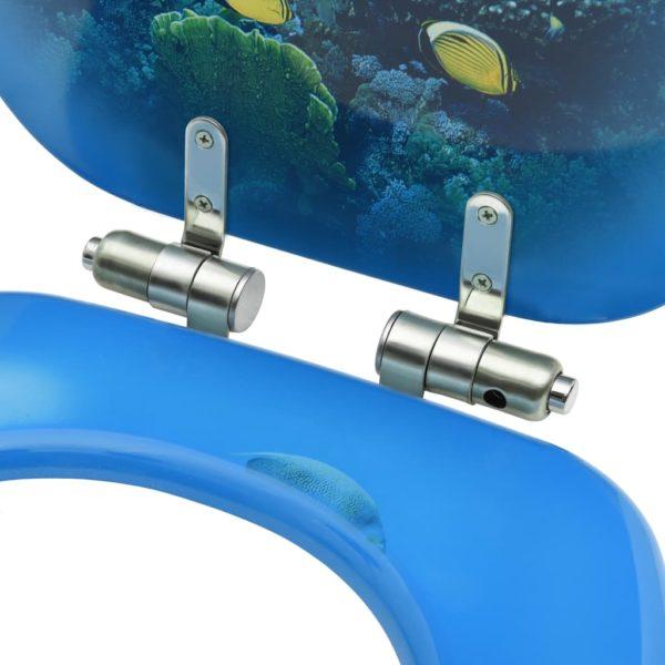 Toilettensitze mit Soft-Close-Deckel 2 Stk. MDF Tiefsee-Design