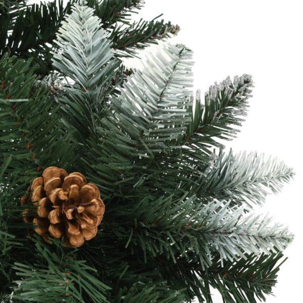 Künstlicher Weihnachtsbaum Kiefernzapfen Weißem Glitzer 150 cm