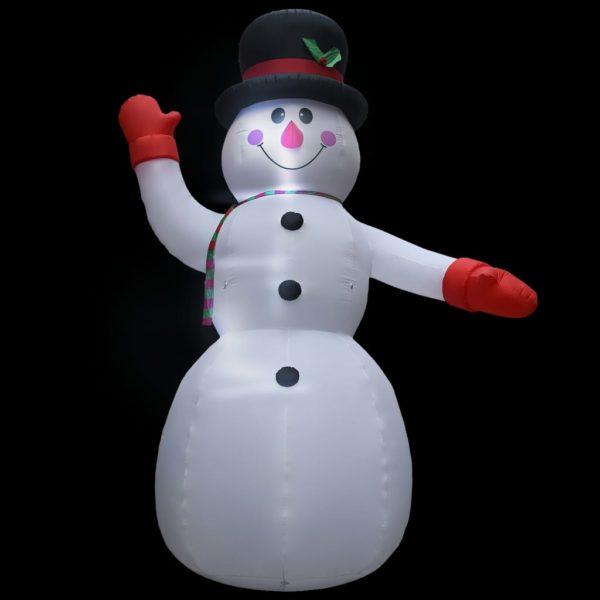 Aufblasbarer Schneemann mit LED zu Weihnachten IP44 450 cm XXL