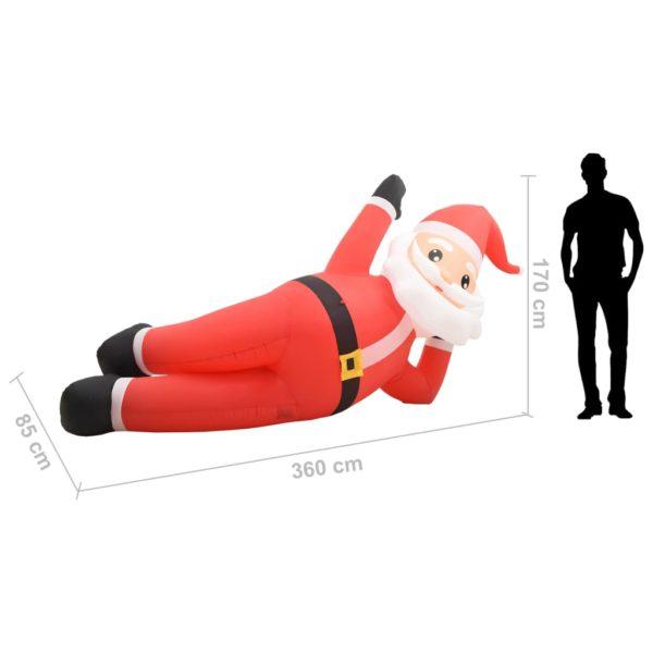 Aufblasbarer Weihnachtsmann LED IP44 Rot 360 cm XXL
