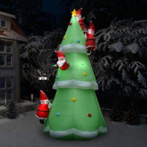 Aufblasbarer Weihnachtsbaum mit Weihnachtsmännern LED 500 cm