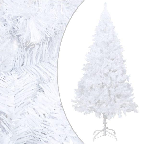 Künstlicher Weihnachtsbaum mit Dicken Zweigen Weiß 210 cm PVC