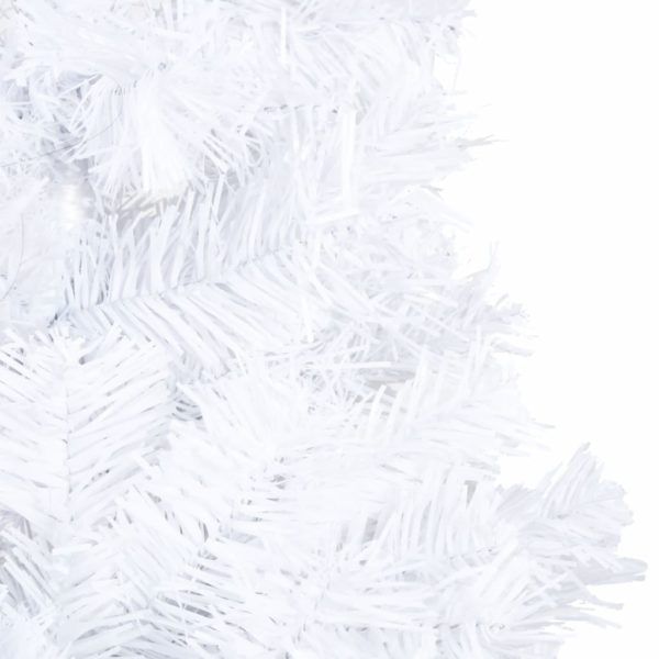 Künstlicher Weihnachtsbaum mit Dicken Zweigen Weiß 240 cm PVC