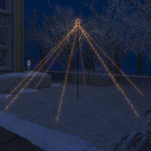 LED-Lichterkette Weihnachtsbaum Indoor Outdoor 576 LEDs 3,6 m