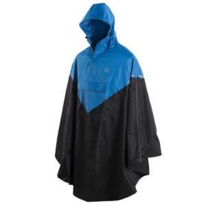 Willex Regenponcho mit Kapuze Größe S / M Blau und Schwarz 29219
