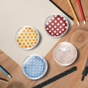 Button-Set mit Anstecknadel 100 Stk. Acryl 58 mm