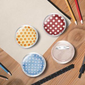 Button-Set mit Anstecknadel 100 Stk. Acryl 37 mm