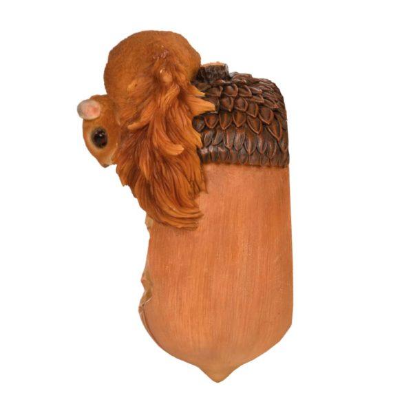 Esschert Design Eichhörnchen mit Futterspender-Eichel 14,2×10,8×20,1cm