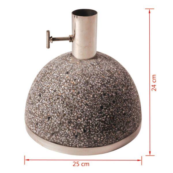 Esschert Design Sonnenschirmständer 11,5 kg 25x25x24 cm Grau PV11