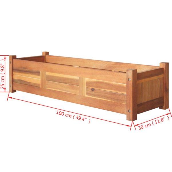 Garten-Hochbeet Akazienholz 100x30x25 cm