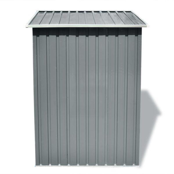 Gartenschuppen Grau Metall 204 x 132 x 186 cm