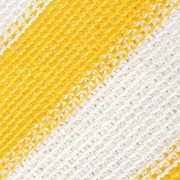 Balkonschirm HDPE 75 x 400 cm Gelb und Weiß