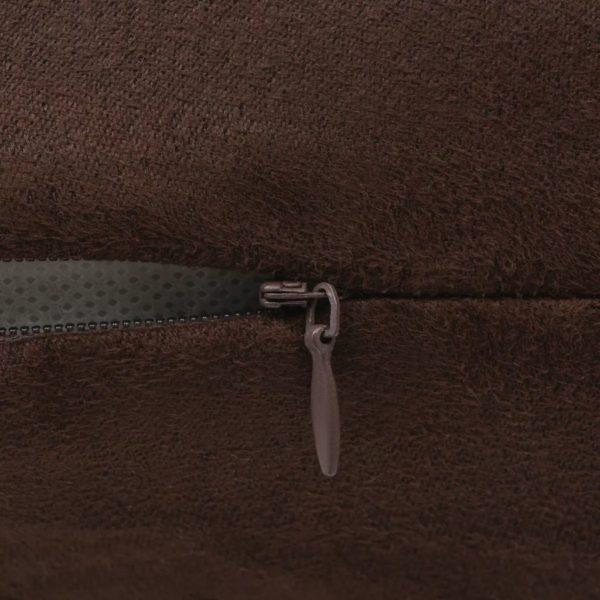 Kissenbezüge 4 Stk. 80×80 cm Polyester Wildleder-Optik Braun