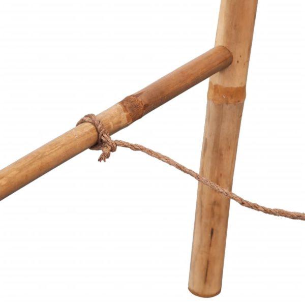 Doppel-Handtuchleiter mit fünf Bambussprossen 50 x 160 cm