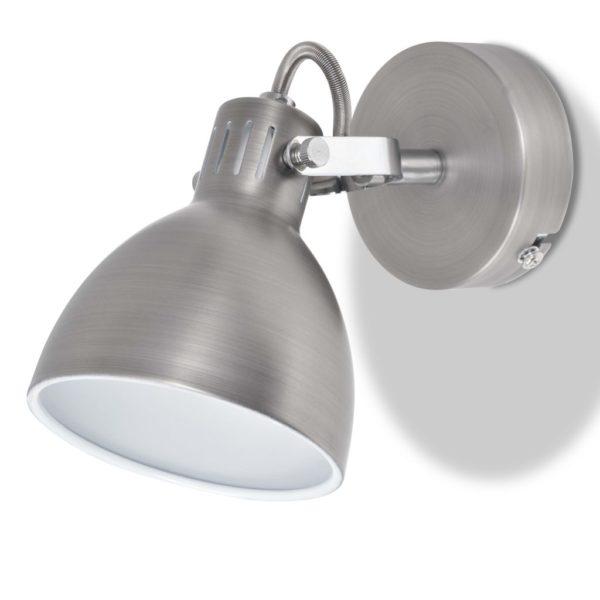 Wandleuchten 2 Stk. für 2 Glühlampen E14 Grau