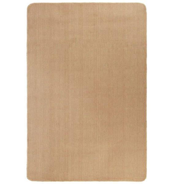 Teppich Jute mit Latexrücken 70 x 130 cm Naturfarben