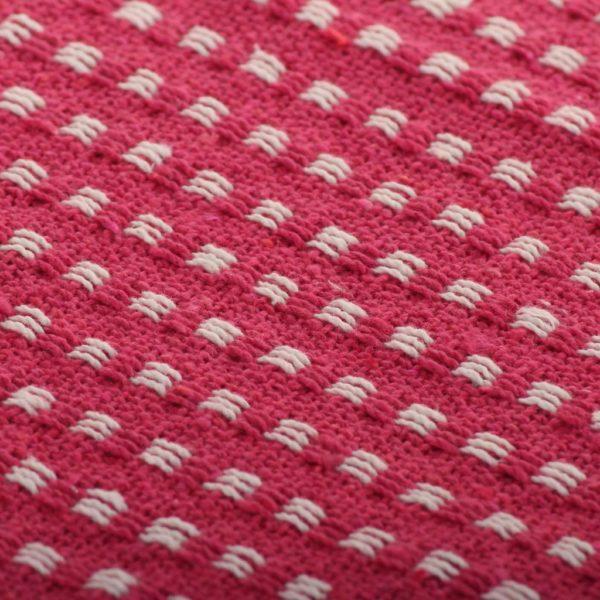 Überwurf Baumwolle Kariert 220 x 250 cm Rosa