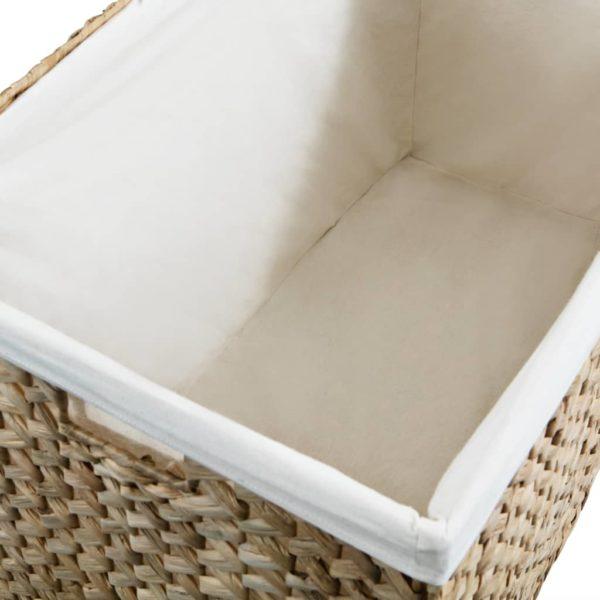 Wäschekorb 82 x 42,5 x 52,5 cm Wasserhyazinthe